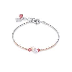 Coeur de Lion 4952/30-0323 Armband Swarovski® Kristalle Edelstahl Rosé Koralle