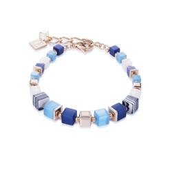 Coeur de Lion 4963/30-0706 Armband GeoCUBE® Swarovski® Pavé Malachit Blau