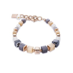 Coeur de Lion 4963/30-1523 Armband GeoCUBE® Swarovski® Multicolor Natur