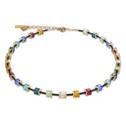 Coeur de Lion 4975/10-1500 Halskette GeoCUBE® Swarovski® Limited Edition Edelstahl Multicolor