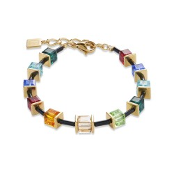 Coeur de Lion 4975/30-1500 Armband GeoCUBE® Swarovski® Limited Edition Edelstahl Multicolor