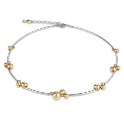 Coeur de Lion 4983/10-1617 Halskette Damen Kugeln Edelstahl Gold-Silber