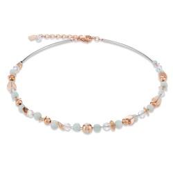 Coeur de Lion 4993/10-0522 Halskette Damen Swarovski® Kristalle Twisted Pearls Rosé