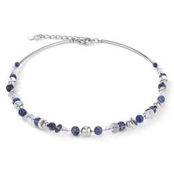 Coeur de Lion 4993/10-0700 Halskette Damen Twisted Pearls Sodalith Blau Edelstahl