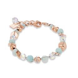 Coeur de Lion 4993/30-0522 Armband Damen Swarovski® Kristalle Twisted Pearls Rosé