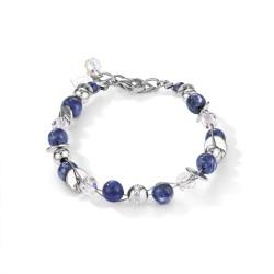 Coeur de Lion 4993/30-0700 Armband Twisted Pearls Sodalith Blau Edelstahl