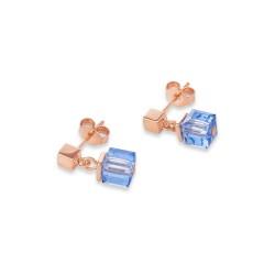 Coeur de Lion 4996/21-0700 Ohrringe Monochrome Blue Swarovski® Kristalle Edelstahl Roségold