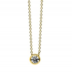 Diamond Group 4B666G Collier Halskette Zarge Brillant 0,20 ct 14 kt 585/- GG