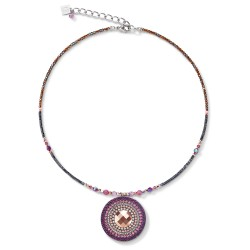 Coeur de Lion 5035/10-0824 Halskette Amulett Small Swarovski® Kristalle & Lepidolith Amethyst