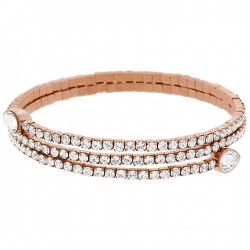 Swarovski 5073594 Armreif  Twisty Drop Weiss Rosé