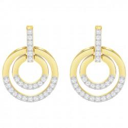 Swarovski 5290188 Circle Ohrringe Weiss Gold-Ton