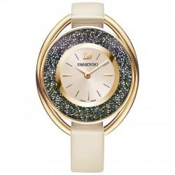 Swarovski 5296319 Damen-Armbanduhr Crystalline Oval Beige