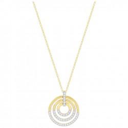 Swarovski 5349192 Kette Anhänger Circle Weiss Gold-Ton