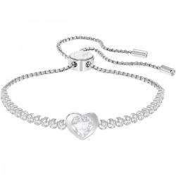 Swarovski 5349630 Armband Damen Subtle Heart Weiss Silber-Ton