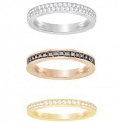 Swarovski Hint Ring-Set Weiss, Metallmix