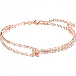 Swarovski 5390818 Armreif Armband Damen Lifelong Weiss Rosé-Ton