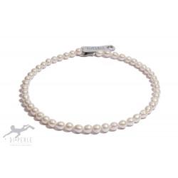 Di Perle 53932037 Halskette Strang Damen Süßwasserzucht-Perlen Coin 45 cm