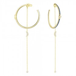 Swarovski 5425940 Ohrringe Ohrhänger Duo Moon Grünblau Weiss Gold-Ton Metallmix