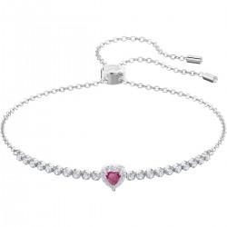 Swarovski 5456813 Armband Damen One Rot Weiss Silber-Ton