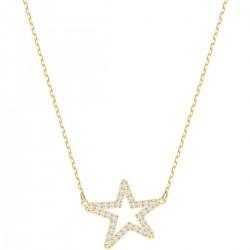 Swarovski 5462757 Kette mit Anhänger Only Star Weiss Vergoldet