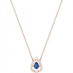 Swarovski 5465281 Halskette mit Anhänger Sparkling Dance Pear Blau Rosé Vergoldung