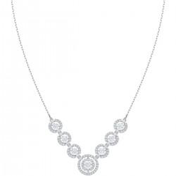 Swarovski 5467787 Halskette Sparkling Dance Weiss Silber-Ton Rhodiniert