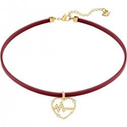 Swarovski 5470163 Halskette Halsband Oxo Rot Vergoldet