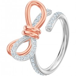 Swarovski Ring Damen Lifelong Medium Bow Silber-Rosè-Ton