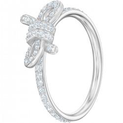 Swarovski Ring Damen Lifelong Bow Weiss Silber-Ton