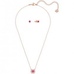 Swarovski 5480494 Set Kette Ohrringe Sparkling Dance Round Rosé Vergoldung