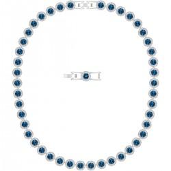 Swarovski 5482698 Kette Angelic Blau Silber-Ton Rhodiniert