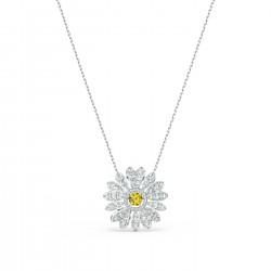 Swarovski 5512660 Halskette mit Anhänger Damen Eternal Flower Gelb Silber-Ton