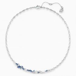 Swarovski 5536547 Halskette Collier Damen Louison Blau Silber-Ton