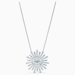 Swarovski 5536731 Halskette mit Anhänger Damen Sunshine Blau Silber-Ton
