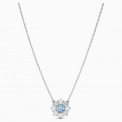 Swarovski 5536742 Halskette mit Anhänger Sunshine Blau Silber-Ton