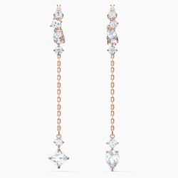 Swarovski 5563118 Ohrringe Damen Attract Weiss Rosé Vergoldet