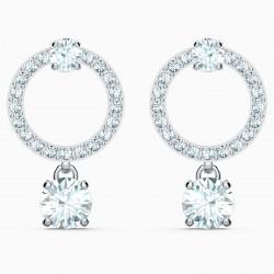 Swarovski 5563278 Ohrringe Damen Attract Circle Weiss Silber-Ton