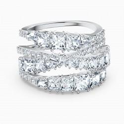 Swarovski Ring Damen Twist Wrap Weiss Silber-Ton