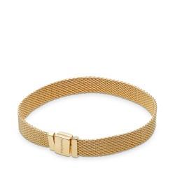 Pandora Reflexions Shine 567712 Armband Damen Mesh Silber-Gold 18 K