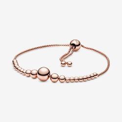 Pandora Rose 587749C00 Schiebe-Armband Damen Metallperlen-Schnur