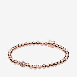 Pandora Rose 588342CZ Armband Damen Beads Pavé 14 Karat