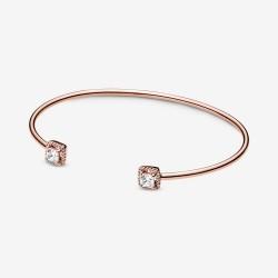 Pandora Rose 588508C01 Armreif Damen Funkelndes Quadrat Vergoldet 16 cm