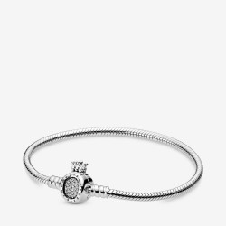 Pandora 598286CZ Armband Damen Moments Crown O Snake Chain Silber