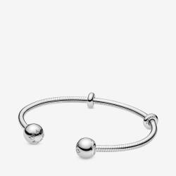 Pandora 598291 Armreif Damen Moments Snake Chain Style Offen Silber