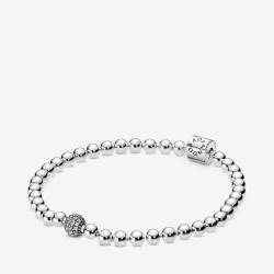 Pandora 598342CZ Armband Damen Beads Pavé Weiss Sterling-Silber