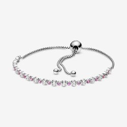 Pandora 598517C02 Armband Damen Rosa und Klar Funkelnd