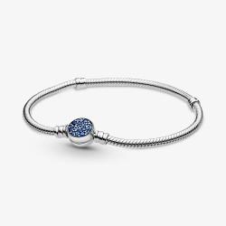Pandora 599288C01 Armband Moments Funkelndem Blauem Verschluss 17 cm