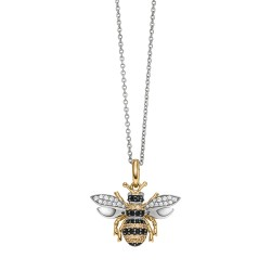 Viventy 783172 Halskette mit Anhänger Biene 65 Swarovski Zirkonia Silber