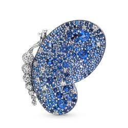 Pandora 697996NCB Brosche-Anhänger Dazzling Blue Butterfly Schmetterling