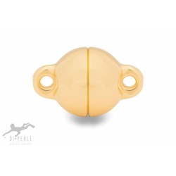 Di Perle 70170012 Magnetschliesse Kugel Halskette Sterling-Silber Vergoldet 12 mm